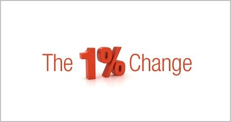 The 1% change