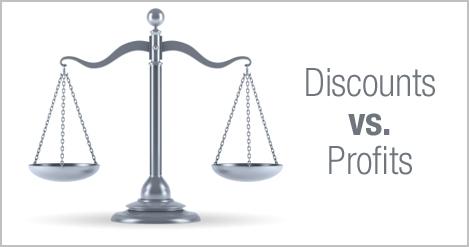 discounts vs profit